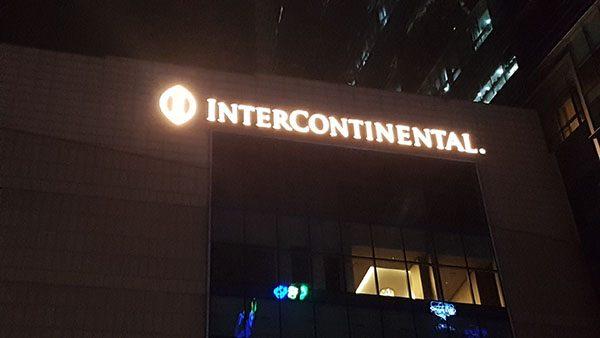 MaxB cung cấp biển bảng, chữ cho khách sạn Intercontinential