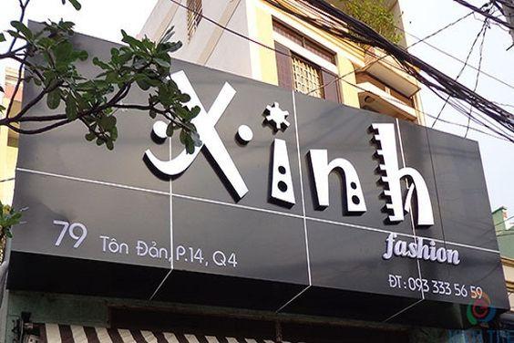 Mẫu biển quảng cáo shop thời trang đẹp