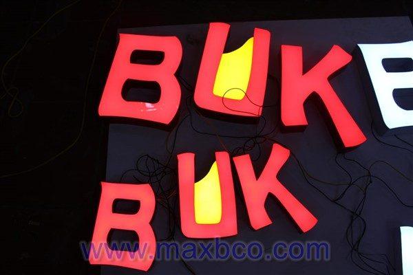 Bộ chữ mica nổi BUK BUK